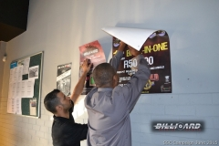 BPL SSC KZN_Kyle and Brian putting th posters up