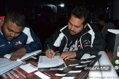 BPL SSC KZN_Sylvester and Lenny signing during load shedding