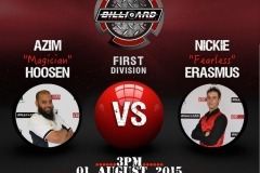 1 and 2 August_010815 Azim vs Nickie 3pm