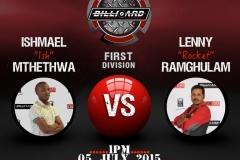 BPL-1st Division-050715 Ish Lenny 1pm